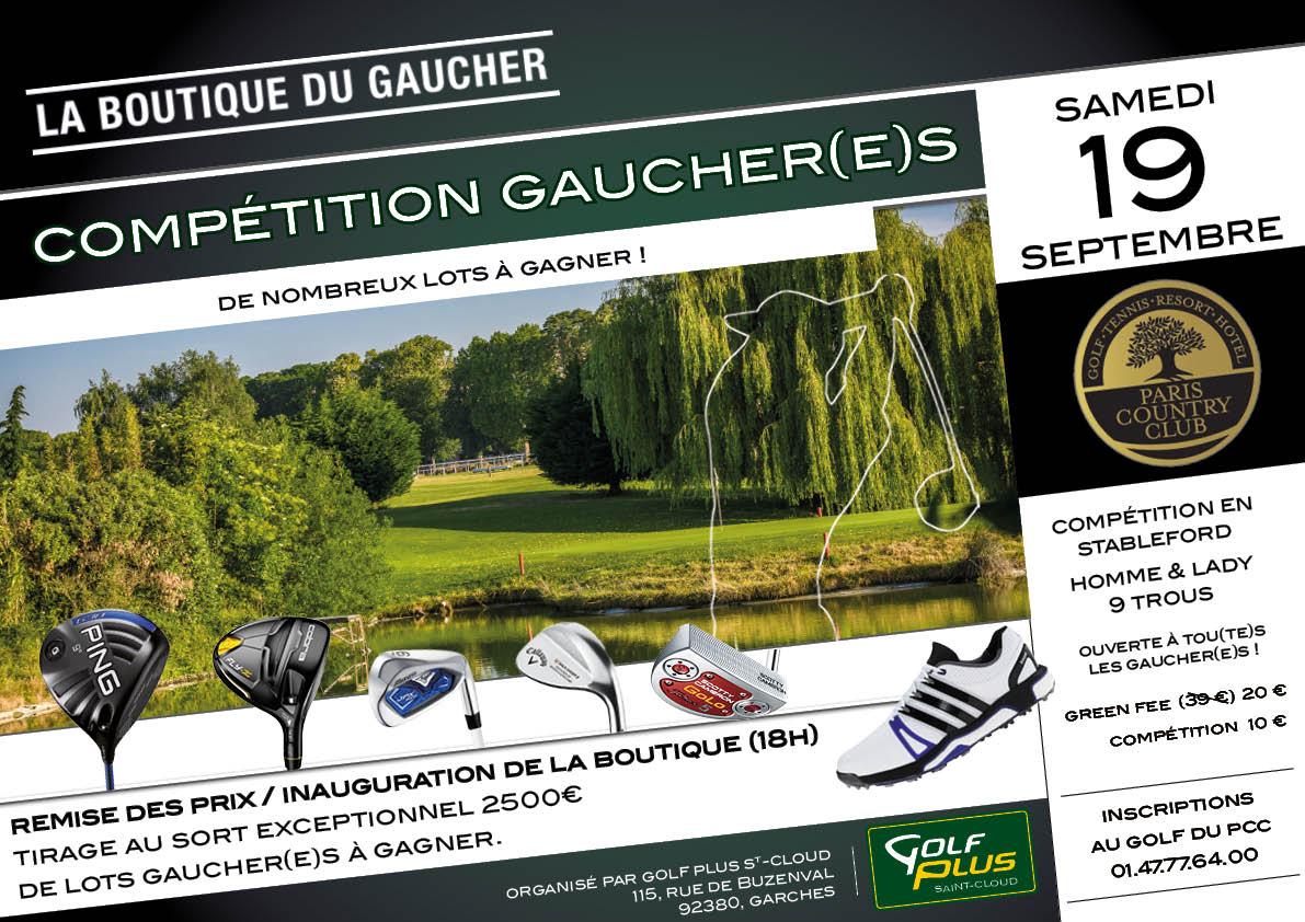 Compétition gaucher(e)s le 19 septembre - blog Golf Plus