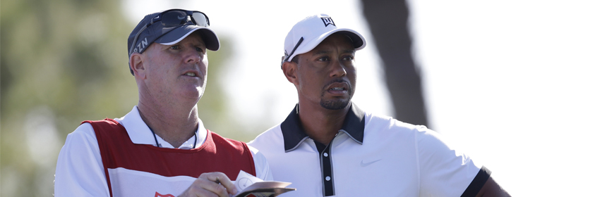 Joe LaCava et Tiger Woods