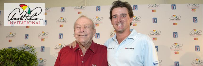 Arnold Palmer et son petit fils Sam Saunders