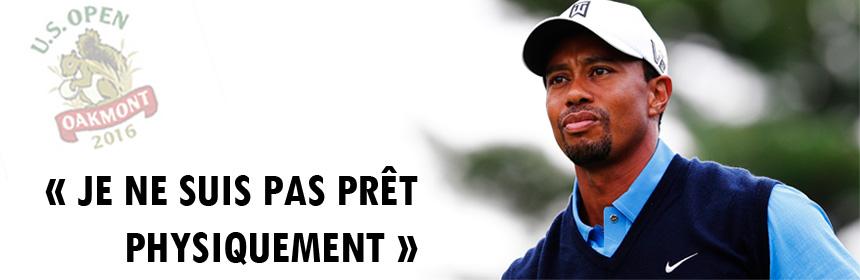 Tiger Woods forfait pour l'US Open