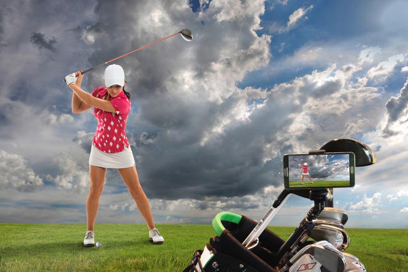 golf stick the selfie sport parcours
