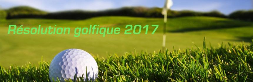 résolution nouvel an golfeur
