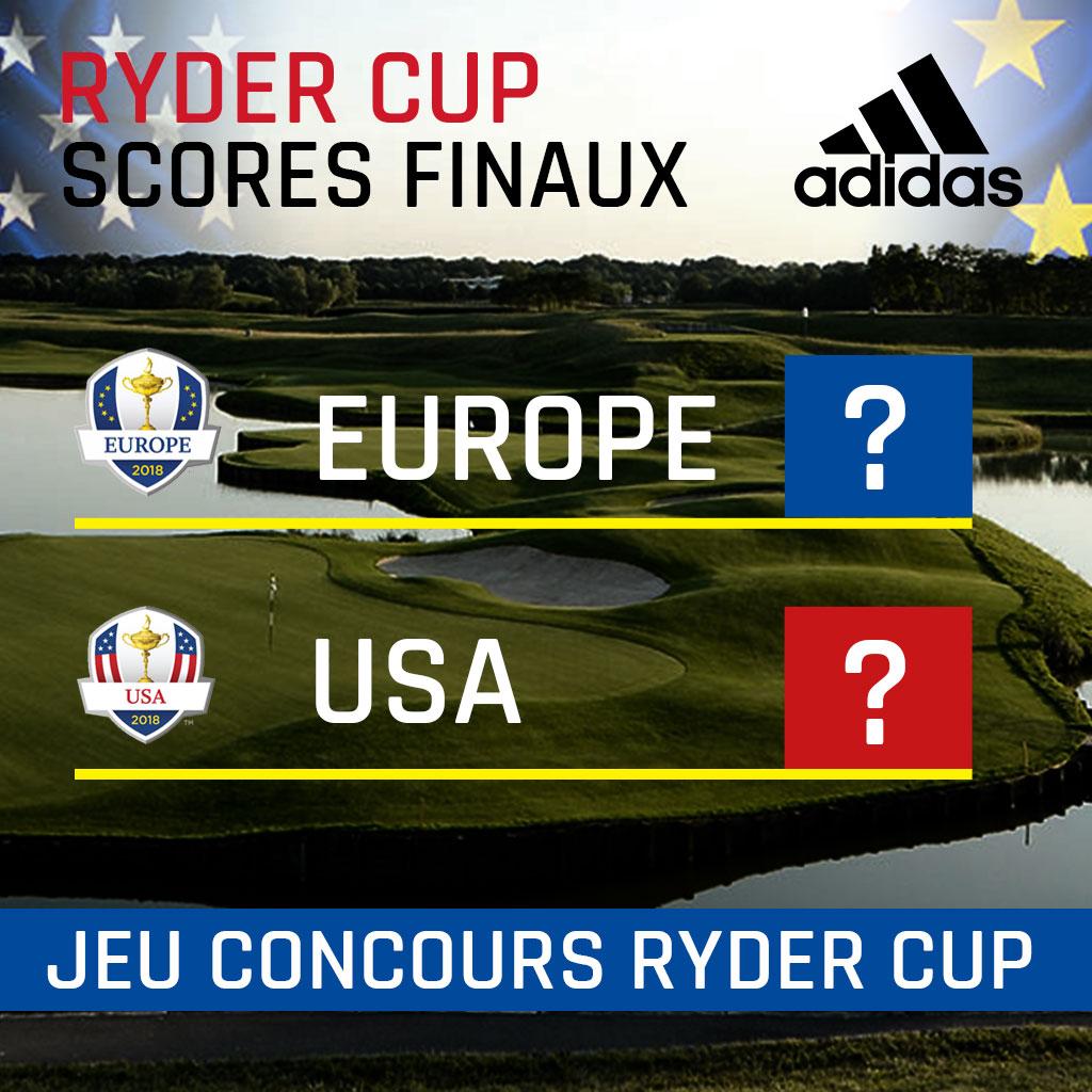 Il vous suffit simplement de deviner le score final de cette Ryder Cup !  Remplissez le formulaire de réponse ci-dessous et participez au tirage au  sort pour ... e2f0aa0bb2a
