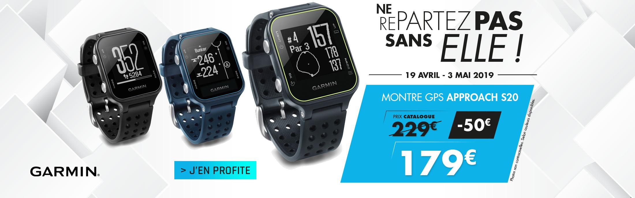 Montre GPS GARMIN APPROACH S20 !