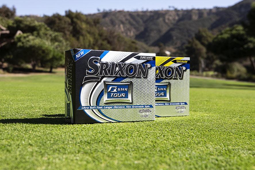 Douzaines de balle Srixon Q Star Tour Srixon déclinées en blanche et jaune.