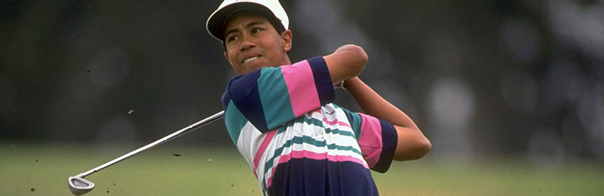 Tiger Woods à ses débuts aux États-Unis